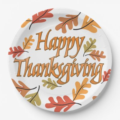 Happy Thanksgiving 7 Inch Paper Plate