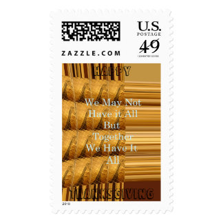 Happy Thanksgiving African Giraffe Design Stamps