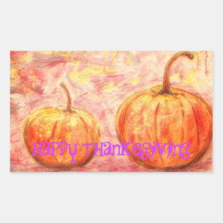 happy thanksgiving art stickers