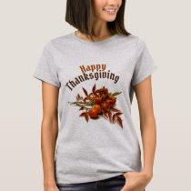 Happy Thanksgiving & Autumn Berries Light T-Shirt
