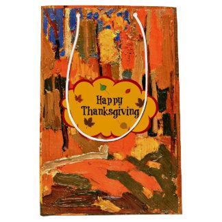 Happy Thanksgiving, Autumn Colors Medium Gift Bag