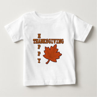 Happy Thanksgiving Autumn Leaf Tee Shirt