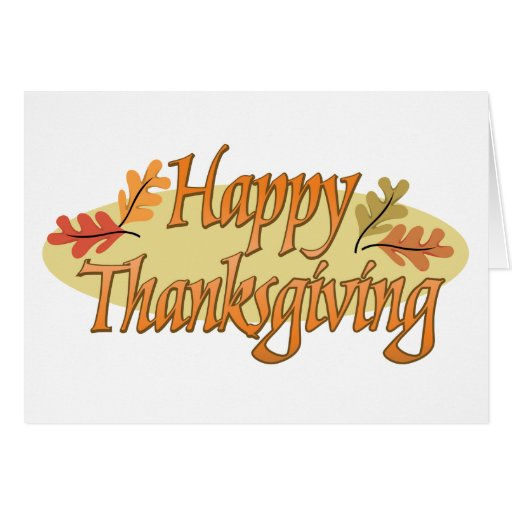 Happy Thanksgiving Autumn Leaves Greeting Card