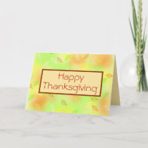 Happy Thanksgiving, Autumn Leaves Holiday Card