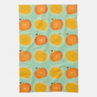 Happy Thanksgiving Autumn PumpkinS Kitchen Towel