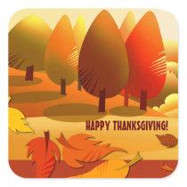 Happy Thanksgiving. Autumn Scenery Stickers