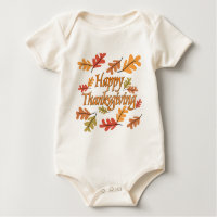 Happy Thanksgiving Baby Bodysuit