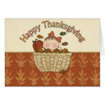 Happy Thanksgiving Baby Girl Card
