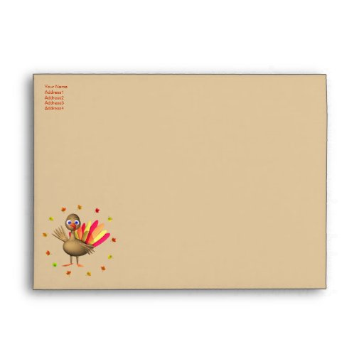Happy Thanksgiving Baby Turkey - A7 Envelope