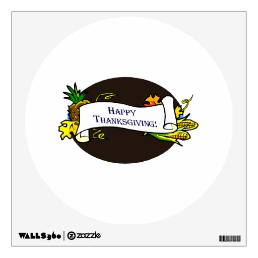 Happy thanksgiving banner wall graphic