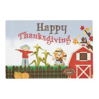 Happy Thanksgiving Barn Yard Placemat