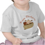 Happy Thanksgiving Basket Baby Gift T Shirts