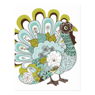 Happy Thanksgiving Beautiful Turkey Card 2 Postcard