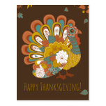 Happy Thanksgiving Beautiful Turkey Card Postcard