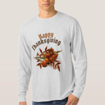 Happy Thanksgiving & Berries Long Sleeve T-Shirt