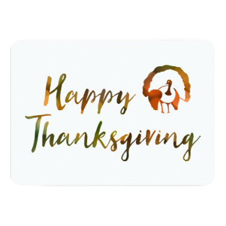 Happy Thanksgiving (bokeh turkey lights) Card