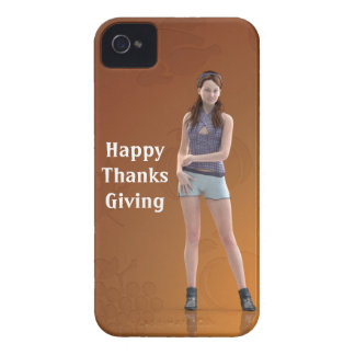 Happy Thanksgiving Bree iPhone 4 Case