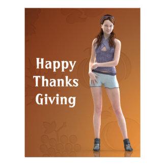 Happy Thanksgiving Bree Letterhead Template