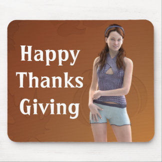 Happy Thanksgiving Bree Mousepads