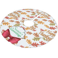 Happy Thanksgiving Brushed Polyester Tree Skirt