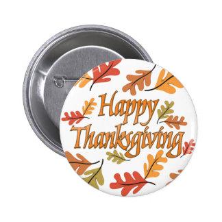 Happy Thanksgiving 2 Inch Round Button