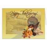 HAPPY THANKSGIVING by SHARON SHARPE Greeting Card