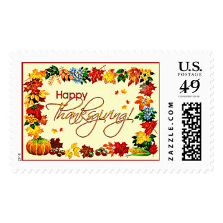 HAPPY THANKSGIVING by SHARON SHARPE Postage Stamps