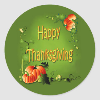 HAPPY THANKSGIVING by SHARON SHARPE Stickers