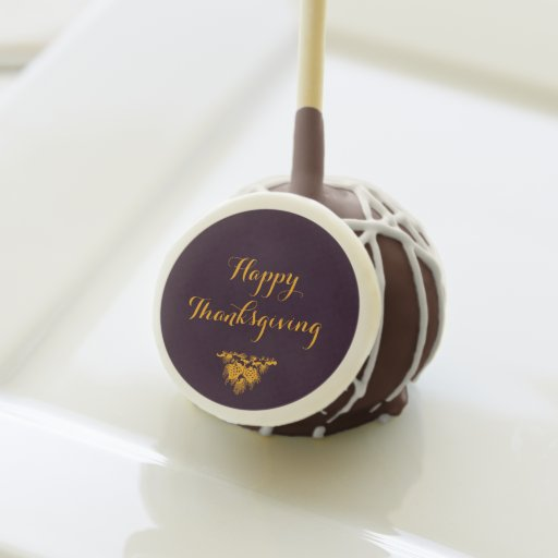 Happy Thanksgiving Cake Pops