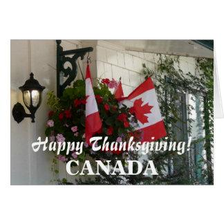 Happy Thanksgiving CANADA/Maple Leaf Flags Card