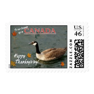 Happy Thanksgiving Canada! stamp