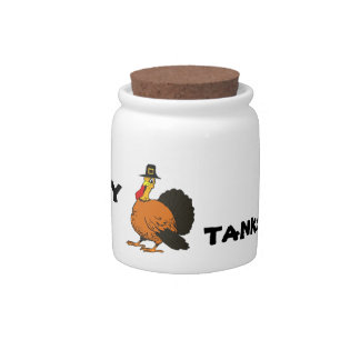 Happy Thanksgiving Candy/Cookie Jar Candy Jars