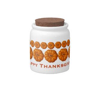 Happy Thanksgiving Candy Jar