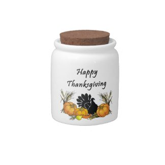 Happy Thanksgiving Candy Jars