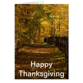Happy Thanksgiving card Bridal Path