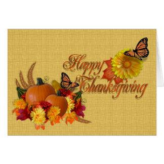 Happy Thanksgiving card butterflies