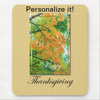 Happy Thanksgiving Cards and Gifts Mouse Pad