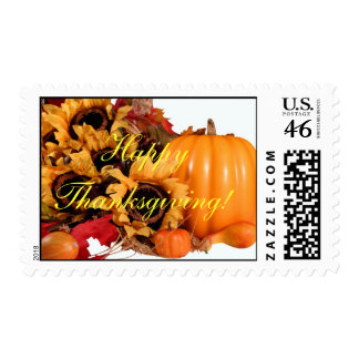 Happy Thanksgiving Cards Postage Stamp