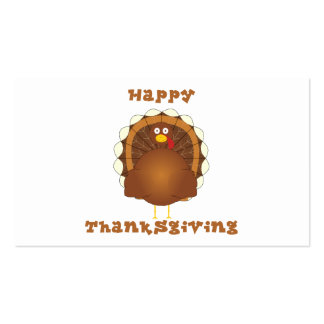 Happy Thanksgiving cartoon turkey gift tags Business Card Templates