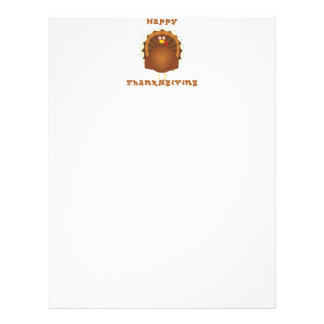 Happy Thanksgiving cartoon turkey paper