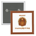 Happy Thanksgiving cartoon turkey pins