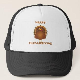 Happy Thanksgiving cartoon turkey Trucker Hat