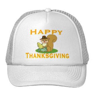 Happy Thanksgiving Chipmunk With Corn Trucker Hat