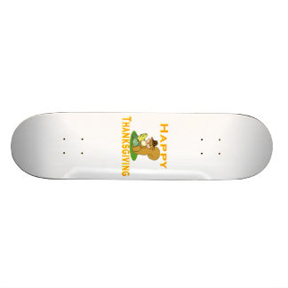 Happy Thanksgiving Chipmunk With Corn Skateboard