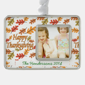 Happy Thanksgiving Christmas Ornament