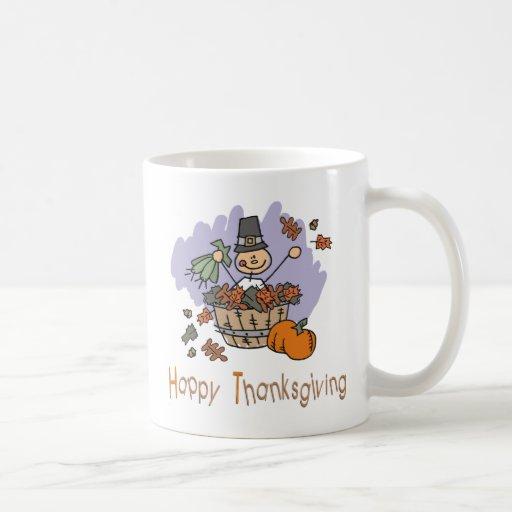 Happy Thanksgiving Classic White Coffee Mug