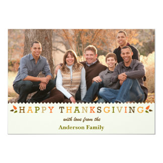 Happy Thanksgiving Colorful & Bright Card