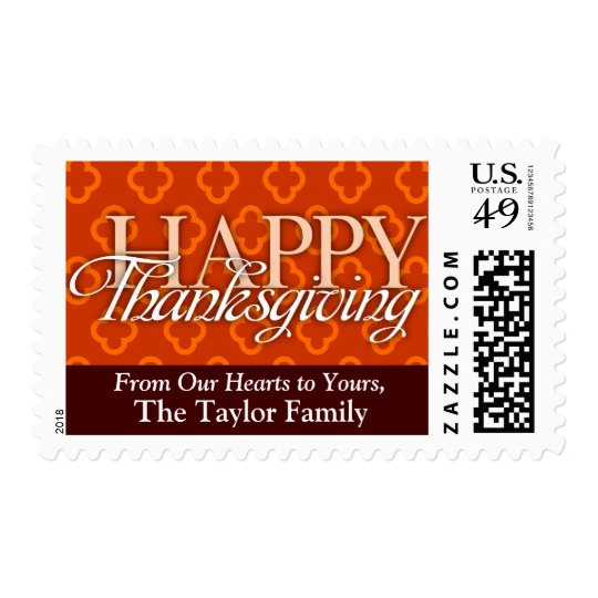 Happy Thanksgiving (Custom) Postage
