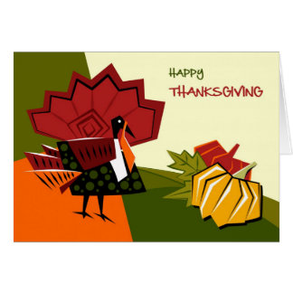 Happy Thanksgiving. Customiable Greeting Card