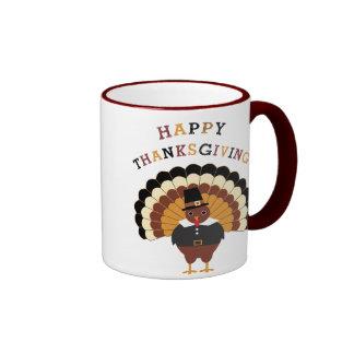 Happy Thanksgiving cute tom turkey coffee mug